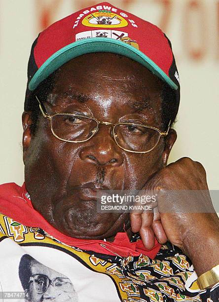 Zimbabwe's President Robert Mugabe pictured at the ZANUPF party's extraodinary congress in Harare 14 December 2007 Zimbabwe's veteran President...