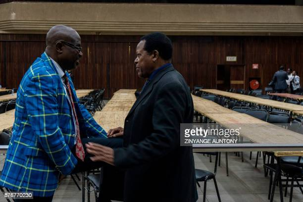 Zimbabwe's ruling party Zimbabwe African National Union Patriotic Front members of Parliament gather at the party headquarters for a caucus meeting...