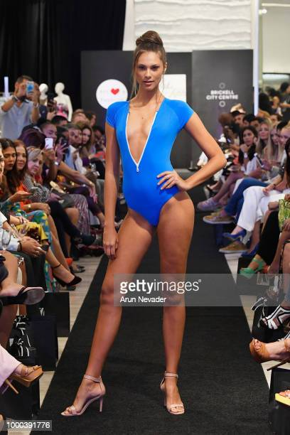 Zimmerman designers walk the runway at the Zimmerman At Miami Swim Week Powered By Art Hearts Fashion At Saks Fifth Avenue on July 16 2018 in Miami...