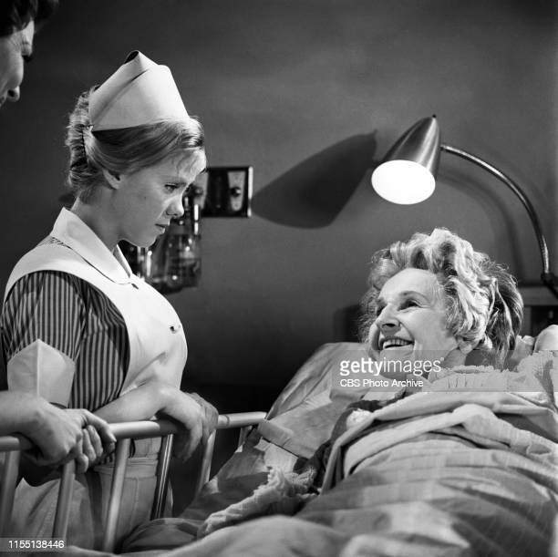 """Zina Bethune and Cathleen Nesbitt star in """"The Nurses,"""" a CBS television hospital medical drama series, Later titled as: The Doctors and the Nurses...."""