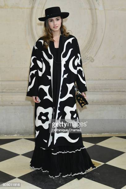 Zina Charkoplia attends the Christian Dior show as part of the Paris Fashion Week Womenswear Fall/Winter 2018/2019 on February 27 2018 in Paris France