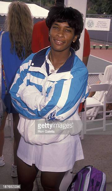 Zina Garrison attends Second Annual Nancy Reagan ProCelebrity Tennis Tournament on October 6 1990 at the Pacific Palisades Tennis Center in Hollywood...