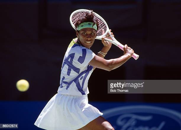 Zina Garrison of the USA during the Australian Open Tennis Championships held in Melbourne Australia during January 1990