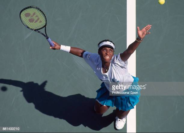 Zina Garrison of the USA during the US Open at the USTA National Tennis Center circa September 1994 in Flushing Meadow New York USA
