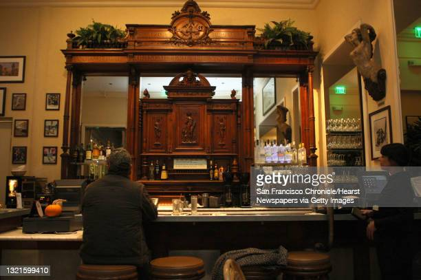 Zinc bar at the Cliff house in San Francisco, Calif., which has a zinc bar top and a hand-carved back bar on Thursday, November 10, 2011. Zinc...