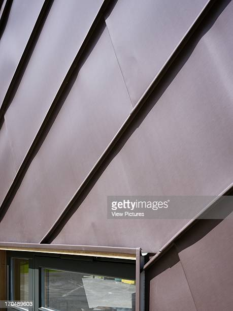 Zinc panel detail Dulwich Village Infant School London United Kingdom Architect Cazenove Architects 2012