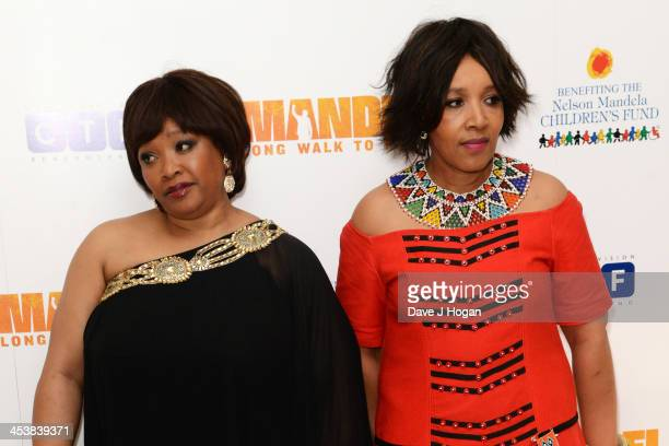 Zindzi Mandela and Zenani Mandela attend the Royal film performance of Mandela Long Walk To Freedom at The Odeon Leicester Square on December 5 2013...