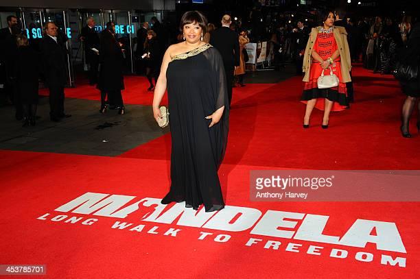 "Zindzi Mandela attends the Royal film performance of ""Mandela: Long Walk to Freedom"" on December 5, 2013 in London, United Kingdom."