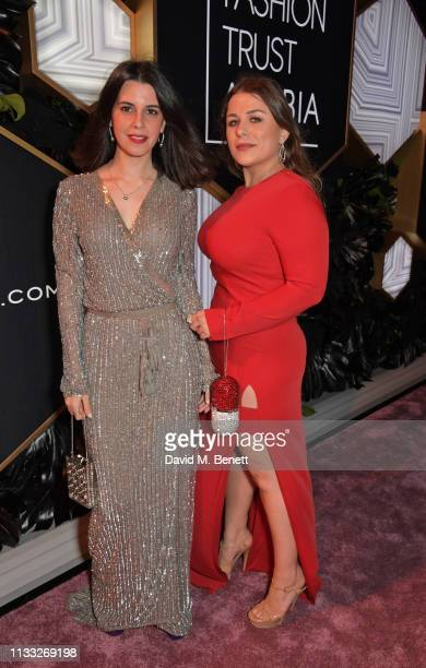 Zineb Britel and Laura Pujol attend the Fashion Trust Arabia Prize awards ceremony on March 28 2019 in Doha Qatar