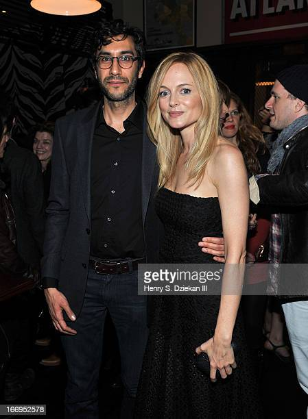 """Zineb Oukach and Heather Graham attend the after party for the Cinema Society & Bally screening of Sony Pictures Classics' """"At Any Price"""" at Clarkson..."""