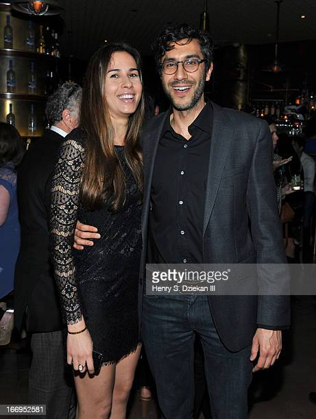 """Zineb Oukach and Ramin Bahrani attend the after party for the Cinema Society & Bally screening of Sony Pictures Classics' """"At Any Price"""" at Clarkson..."""