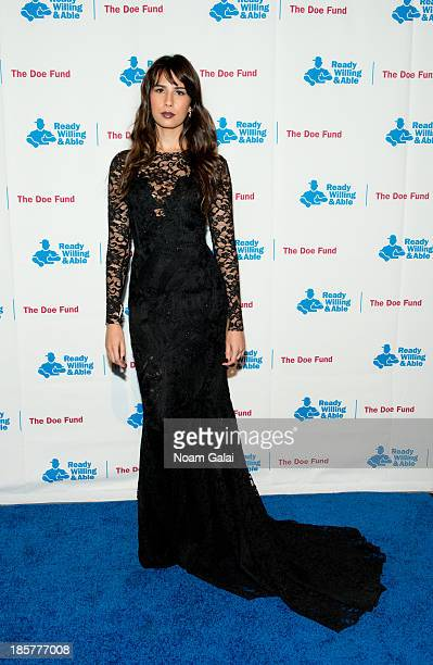 Zineb Oukach attends the 2013 Doe Fund gala at Cipriani 42nd Street on October 24, 2013 in New York City.