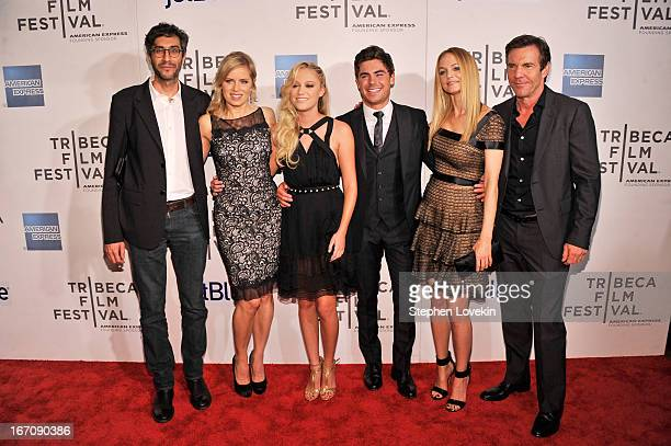 Zineb Oukach Kim Dickens Maika Monroe Zac Efron Heather Graham and Dennis Quaid attends the At Any Price New York premiere during the 2013 Tribeca...