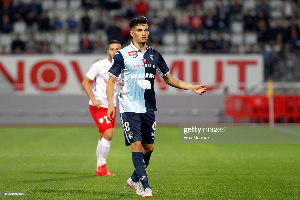 Zinedine Ferhat of Le Havre during the French Ligue 2 match between Nancy and Le Havre on September 14, 2018 in Nancy, France.
