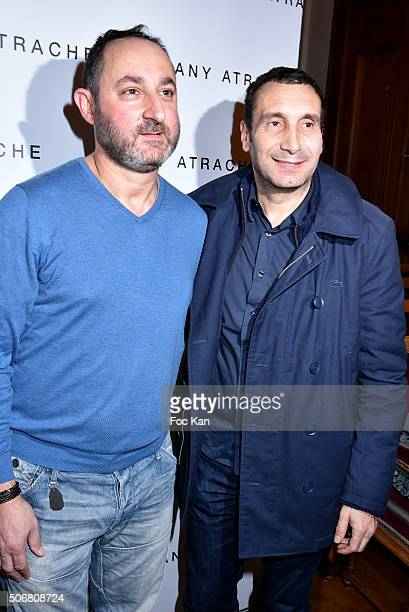 Zinedine Soualem and Dany Atrache attend the Dany Atrache Spring Summer 2016 show as part of Paris Fashion Week on January 25 2016 in Paris France