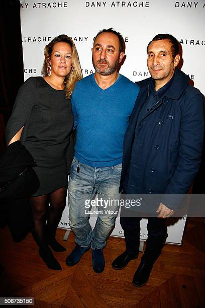 Zinedine Soualem and his wife Artist Caroline Faindt and Dany Atrache attend the Dany Atrache Spring Summer 2016 show as part of Paris Fashion Week...