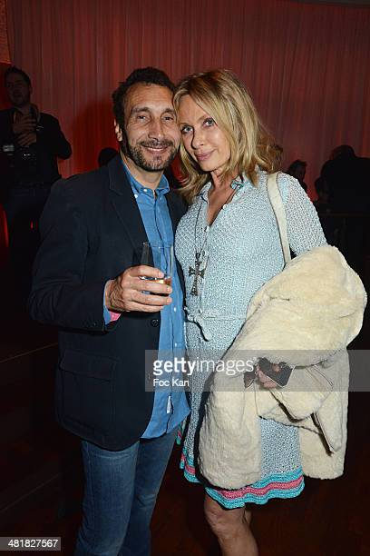 Zinedine Soualem and Valerie Steffen attend the Moma Group President Benjamin Patou receives his friend Claude Lelouch during the 'Salaud on t'Aime'...