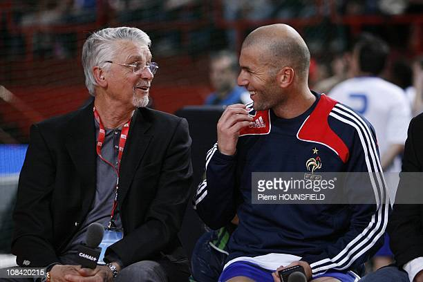 Zinedine Zidane and Aime Jacquet in Paris France on March 29 2009