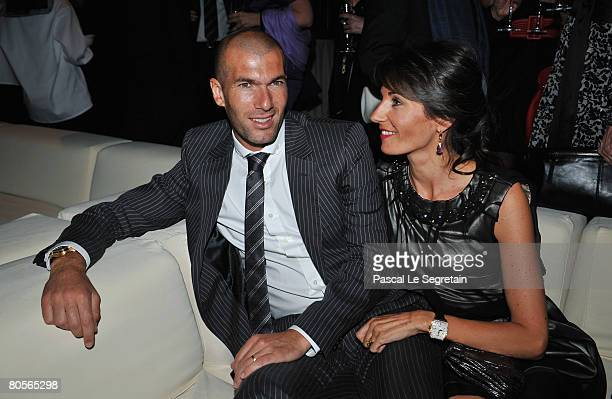 Zinedine Zidane and his wife Veronique attend 'The Crossing' gala event hosted by IWC Schaffhausen held at the Geneva Palaexpo on April 8, 2008 in...