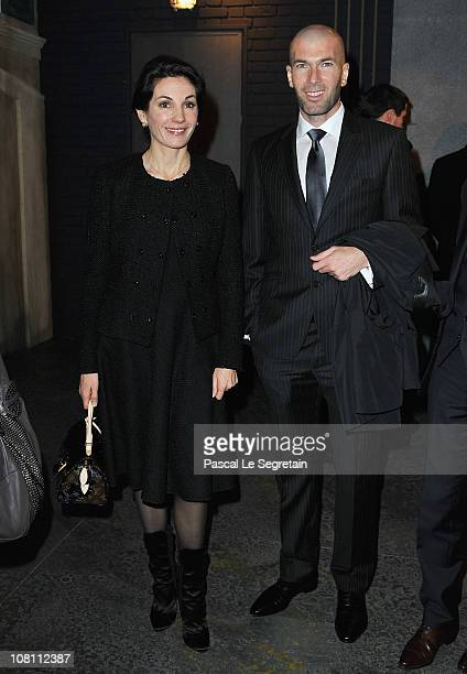 Zinedine Zidane and his wife Veronique attend the IWC launch of the Portofino watch range at the SIHH International Fine Watch makers exhibition on...