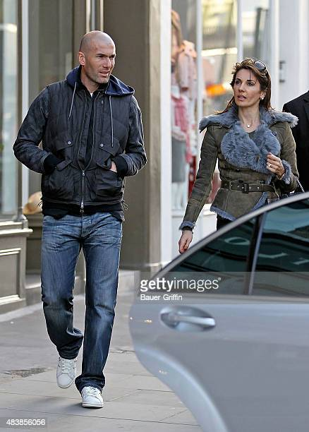 Zinedine Zidane and his wife Veronique Fernandez are seen on March 10 2011 in London United Kingdom