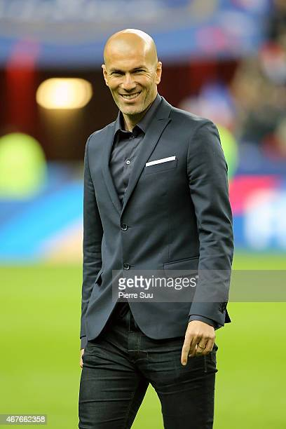 Zinedine Zidane attends the France v Brazil International Friendly on March 26 2015 in Paris France