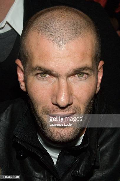 Zinedine Zidane during MercedesBenz Fashion Week Fall 2007 Adidas Y3 Front Row and Backstage at 902 Lexington Avenue in New York City New York United...