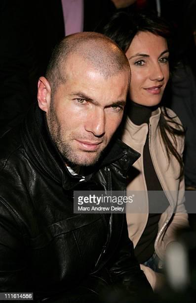 Zinedine Zidane during MercedesBenz Fashion Week Fall 2007 Adidas Y3 Front Row and Backstage at 902 Lexington Avenue in New York City New York United...
