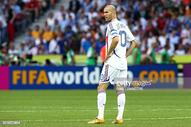 Zinedine Zidane during the final of the 2006 FIFA World Cup between Italy and France