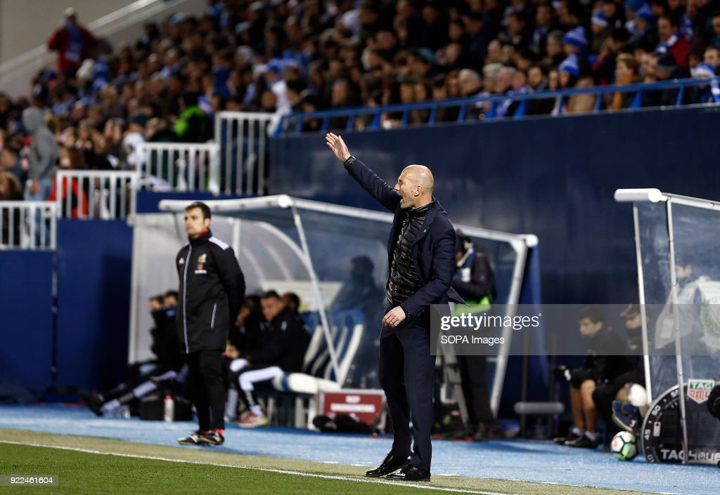 BUTARQUE, LEGANES, MADRID, SPAIN - : Zinedine Zidane (Real Madrid) during the La Liga Santander match between Leganes vs Real Madrid at the Estadio Butarque Final Score Leganes 1 Real Madrid 3.