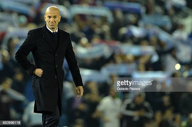 Zinedine Zidane head coach of Real Madrid during the Copa del Rey quarterfinal second leg match between Real Club Celta de Vigo and Real Madrid Club...
