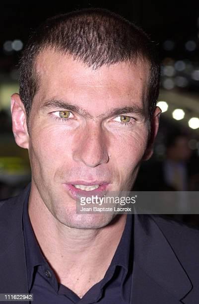 Zinedine Zidane international soccer star during Paris Motor Show 2002 Opening Night at Palais des Expositions in Paris France