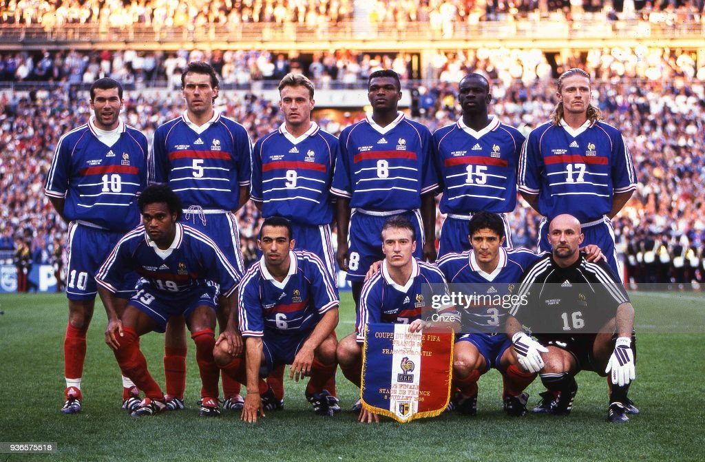 ¿Cuánto mide Marcel Desailly? - Real height Zinedine-zidane-laurent-blanc-stephane-guivarch-marcel-desailly-picture-id936575518