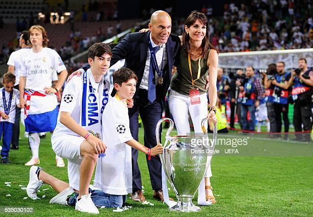 Zinedine Zidane Family 2014 Family Zidane Z...
