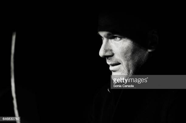 Zinedine Zidane manager of Real Madrid during the La Liga match between Real Madrid CF v UD Las Palmas at Santiago Bernabeu on March 1 2017 in Madrid...