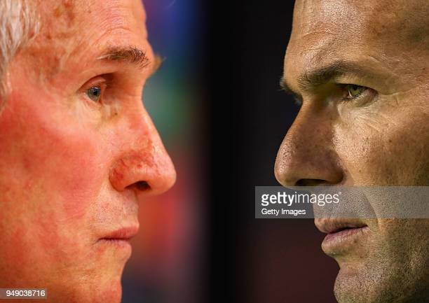 Zinedine Zidane, Manager of Real Madrid looks on prior to the La Liga match between Levante and Real Madrid at Ciutat de Valencia on February 3, 2018...