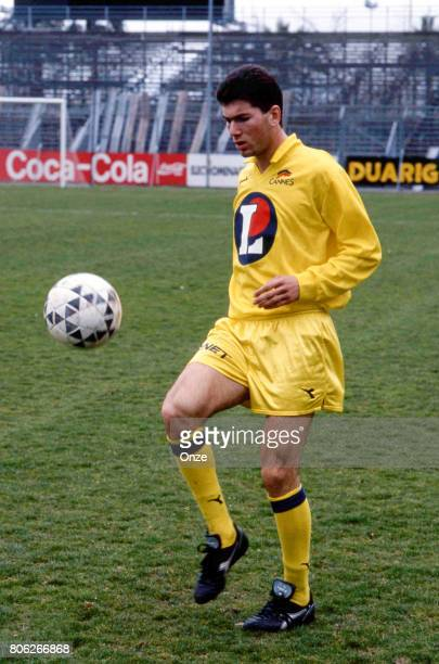 Zinedine Zidane of As Cannes during photo shooting on March 1st 1991 in Cannes