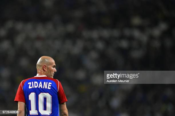 Zinedine Zidane of France 98 reacts during the friendly match between France 98 and FIFA 98 at U Arena on June 12 2018 in Nanterre France