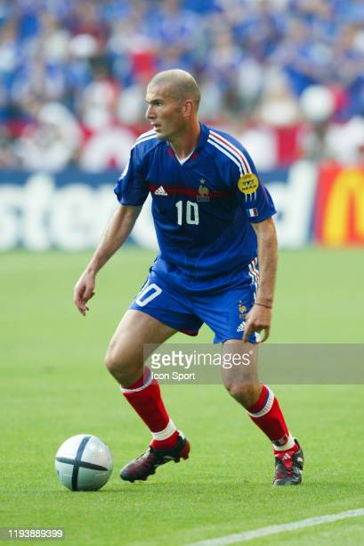 Zinedine ZIDANE of France during the European Championship match between Croatia and France at Estadio Dr. Magalhaes Pessoa, Leiria, Portugal on 17...