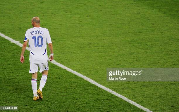 Zinedine Zidane of France during the FIFA World Cup Germany 2006 Final match between Italy and France at the Olympic Stadium on July 9 2006 in Berlin...