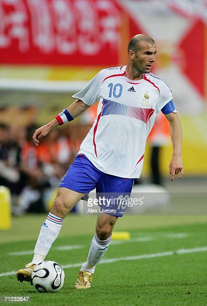 Zinedine Zidane of France in action during the FIFA World Cup Germany 2006 Group G match between France and Korea Republic played at the...