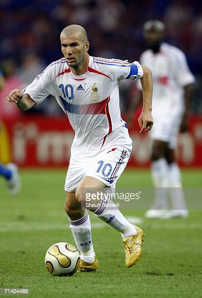 Zinedine Zidane of France in action during the FIFA World Cup Germany 2006 Final match between Italy and France at the Olympic Stadium on July 9 2006...