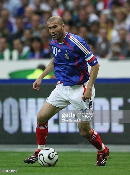 Zinedine Zidane of France in action during the international friendly match between France and Mexico at the Stade de France on May 27 2006 in Paris...