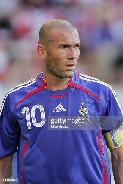 Zinedine Zidane of France looks on during the FIFA World Cup Germany 2006 Group G match between France and Switzerland at the GottliebDaimler Stadium...