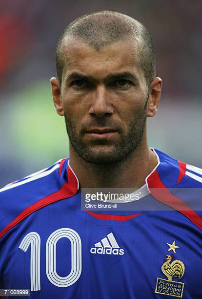 Zinedine Zidane of France looks on during the international friendly match between France and Mexico at the Stade de France on May 27 2006 in Paris...
