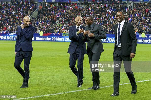 Zinedine Zidane Thierry Henry Marcel Desailly Patrick Vieira during the International friendly match between France and Brazil on March 26 2015 at...