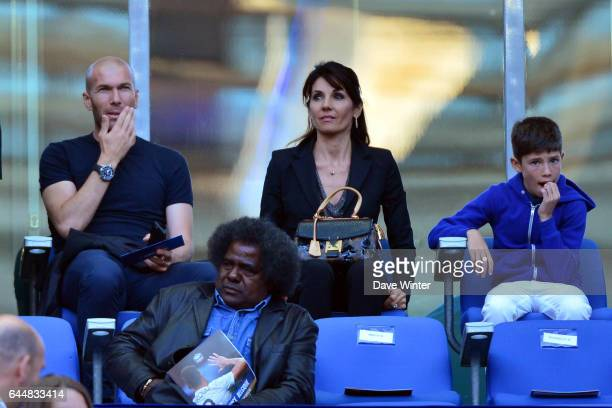 Zinedine ZIDANE / Veronique ZIDANE France / Belgique Match amical Photo Dave Winter / Icon Sport