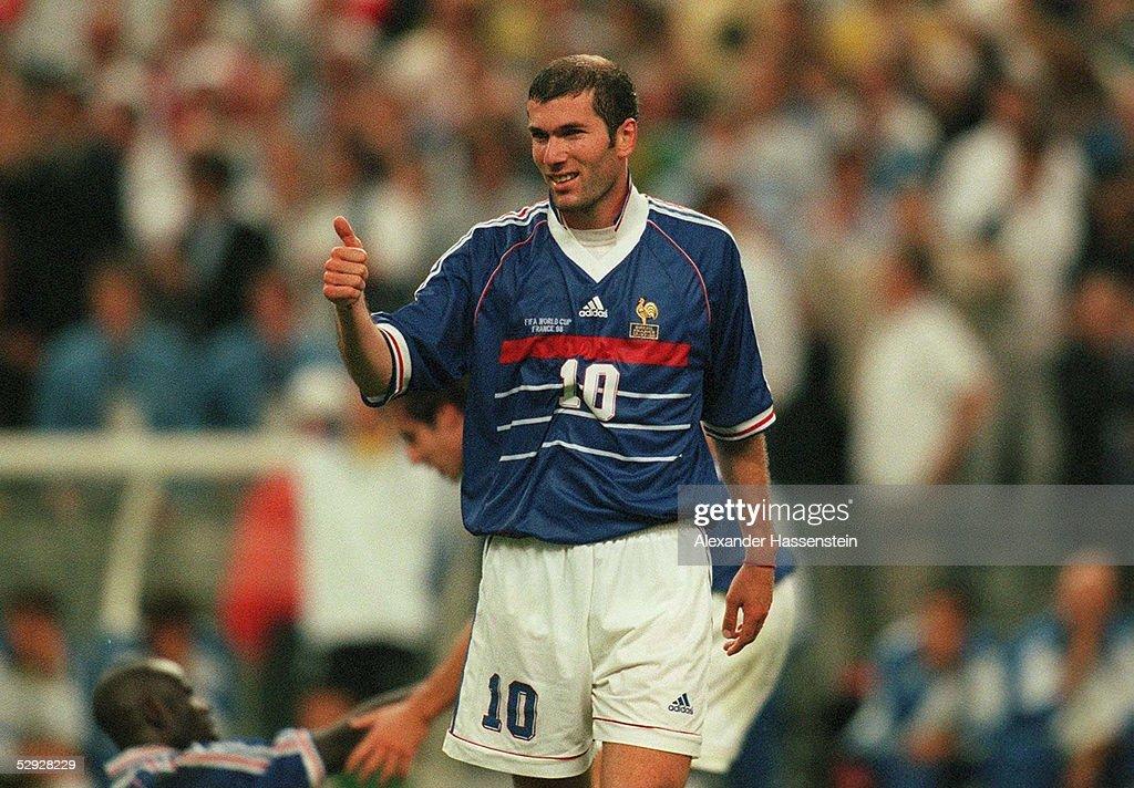 FUSSBALL: WM FRANCE 98, FINALE Paris, 12.07.98 : Fotografía de noticias