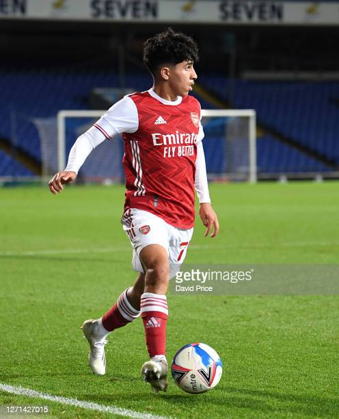 ZineEddine Oulad M'Hand of Arsenal during the Leasingcom Cup match between Ipswich Town and Arsenal U21 at Portman Road on September 08 2020 in...