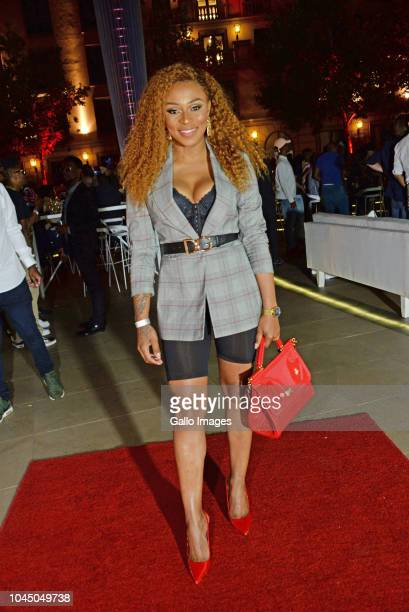 DJ Zinhle during the exclusive launch of AKA Beam World App powered by Vodacom at the Pivot Montecasino on Johannesburg South Africa AKA officially...
